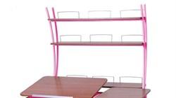 Надстройка Астек на парты ТВИН/ТВИН-2 и МОНО/МОНО-2 (Цвет каркаса:Розовый, Цвет товара:Яблоня) - фото 18094