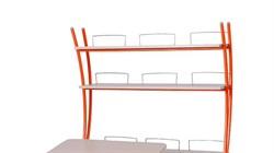 Надстройка Астек на парты ТВИН/ТВИН-2 и МОНО/МОНО-2 (Цвет каркаса:Оранжевый, Цвет товара:Береза) - фото 18109