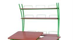 Надстройка Астек на парты ТВИН/ТВИН-2 и МОНО/МОНО-2 (Цвет каркаса:Зеленый, Цвет товара:Яблоня) - фото 18124