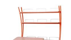 Надстройка Астек на парты ТВИН/ТВИН-2 и МОНО/МОНО-2 (Цвет каркаса:Оранжевый, Цвет товара:Бук) - фото 18148