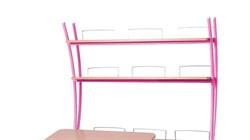 Надстройка Астек на парты ТВИН/ТВИН-2 и МОНО/МОНО-2 (Цвет каркаса:Розовый, Цвет товара:Бук) - фото 18154