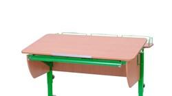 Приставка фронтальная Астек для парт ТВИН/ТВИН-2 и МОНО/МОНО-2 (Цвет каркаса:Зеленый, Цвет товара:Бук) - фото 18171
