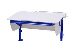 Приставка фронтальная Астек для парт ТВИН/ТВИН-2 и МОНО/МОНО-2 (Цвет каркаса:Синий, Цвет товара:Белый) - фото 18239