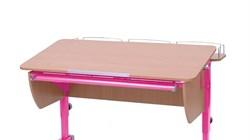 Приставка фронтальная Астек для парт ТВИН/ТВИН-2 и МОНО/МОНО-2 (Цвет каркаса:Розовый, Цвет товара:Бук) - фото 18247
