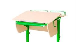 Приставка фронтальная Астек для парты КОЛИБРИ и ЮНИОР (Цвет каркаса:Зеленый, Цвет товара:Береза) - фото 18321