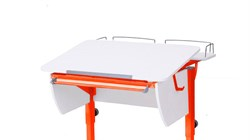 Приставка фронтальная Астек для парты КОЛИБРИ и ЮНИОР (Цвет каркаса:Оранжевый, Цвет товара:Белый) - фото 18351