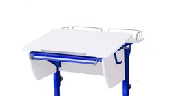 Приставка фронтальная Астек для парты КОЛИБРИ и ЮНИОР (Цвет каркаса:Синий, Цвет товара:Белый) - фото 18360