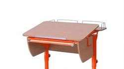 Приставка фронтальная Астек для парты КОЛИБРИ и ЮНИОР (Цвет каркаса:Оранжевый, Цвет товара:Бук) - фото 18369