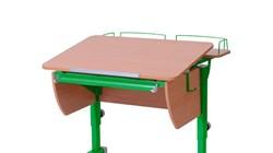 Приставка фронтальная Астек для парты КОЛИБРИ и ЮНИОР (Цвет каркаса:Зеленый, Цвет товара:Бук) - фото 18372