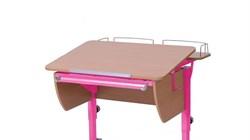 Приставка фронтальная Астек для парты КОЛИБРИ и ЮНИОР (Цвет каркаса:Розовый, Цвет товара:Бук) - фото 18375