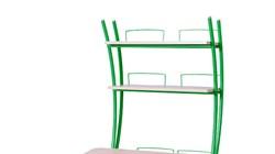 Надстройка Астек на парту КОЛИБРИ и ЮНИОР (Цвет каркаса:Зеленый, Цвет товара:Береза) - фото 18395