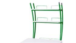 Надстройка Астек на парту КОЛИБРИ и ЮНИОР (Цвет каркаса:Зеленый, Цвет товара:Белый) - фото 18439