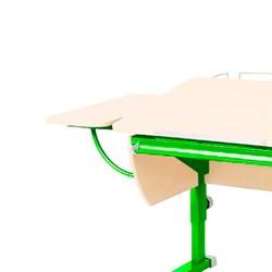 """Приставка боковая к партам Астек (кроме парты """"ЛИДЕР"""") (Цвет каркаса:Зеленый, Цвет товара:Береза) - фото 18484"""