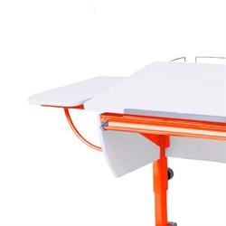 """Приставка боковая к партам Астек (кроме парты """"ЛИДЕР"""") (Цвет каркаса:Оранжевый, Цвет товара:Белый) - фото 18504"""