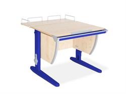 Парта ДЭМИ СУТ-14-01 75х55 см + задняя приставка (Цвет столешницы:Клен, Цвет ножек стола:Синий) - фото 18652