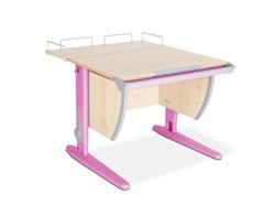 Парта ДЭМИ СУТ-14-01 75х55 см + задняя приставка (Цвет столешницы:Клен, Цвет ножек стола:Розовый) - фото 18660