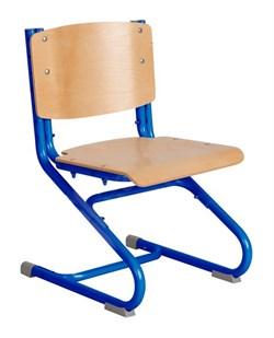 Растущий стул ДЭМИ ДЕРЕВО СУТ.02-01 (регулируется в 3-х плоскостях) (Цвет сиденья и спинки стула:Клен, Цвет каркаса:Синий) - фото 19342
