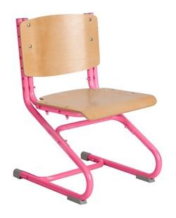 Растущий стул ДЭМИ ДЕРЕВО СУТ.02-01 (регулируется в 3-х плоскостях) (Цвет сиденья и спинки стула:Клен, Цвет каркаса:Розовый) - фото 19344