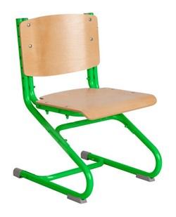 Растущий стул ДЭМИ ДЕРЕВО СУТ.02-01 (регулируется в 3-х плоскостях) (Цвет сиденья и спинки стула:Клен, Цвет каркаса:Зеленый) - фото 19346