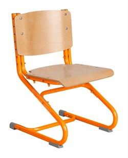 Растущий стул ДЭМИ ДЕРЕВО СУТ.02-01 (регулируется в 3-х плоскостях) (Цвет сиденья и спинки стула:Клен, Цвет каркаса:Оранжевый) - фото 19348