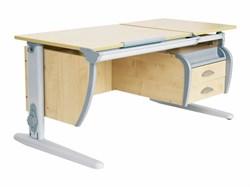 Парта ДЭМИ 120Х55 см + подвесная тумба (СУТ 17-03) (Цвет столешницы:Клен, Цвет ножек стола:Серый) - фото 19491