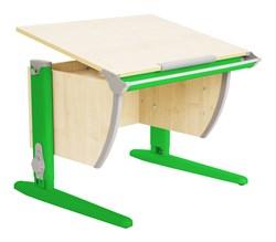 Парта ДЭМИ (Деми) СУТ 14-02Д (парта 75 см+задняя двухъярусная приставка+боковая приставка) (Цвет столешницы:Клен, Цвет ножек стола:Зеленый) - фото 19691