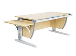 Парта ДЭМИ (Деми) СУТ 15К (парта 120 см+боковая приставка) (Цвет столешницы:Клен, Цвет ножек стола:Серый) - фото 19711