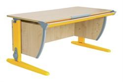Парта ДЭМИ (Деми) СУТ 15-01Д (парта 120 см+задняя приставка+двухъярусная задняя приставка) (Цвет столешницы:Клен, Цвет ножек стола:Оранжевый) - фото 19808