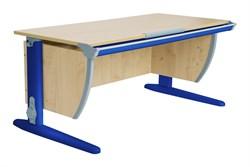 Парта ДЭМИ (Деми) СУТ 15-02Д (парта 120 см+задняя приставка+двухъярусная задняя приставка+боковая приставка) (Цвет столешницы:Клен, Цвет ножек стола:Синий) - фото 19905