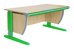 Парта ДЭМИ (Деми) СУТ 15-02Д2 (парта 120 см+две двухъярусные задние приставки+боковая приставка) (Цвет столешницы:Клен, Цвет ножек стола:Зеленый) - фото 19976
