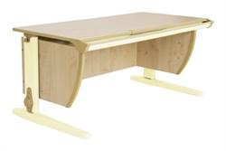 Парта ДЭМИ (Деми) СУТ 15-02Д2 (парта 120 см+две двухъярусные задние приставки+боковая приставка) (Цвет столешницы:Клен, Цвет ножек стола:Бежевый) - фото 19985