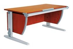 Парта ДЭМИ (Деми) СУТ 15-02Д2 (парта 120 см+две двухъярусные задние приставки+боковая приставка) (Цвет столешницы:Яблоня, Цвет ножек стола:Серый) - фото 20012