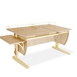 Парта ДЭМИ (Деми) СУТ 17-02 (парта 120 см+две задние приставки+боковая приставка) (Цвет столешницы:Клен, Цвет ножек стола:Бежевый) - фото 20355