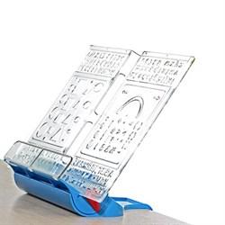 Подставка-трафарет для книг к партам Дэми ПДК-01 (Цвет товара:Синий) - фото 21219