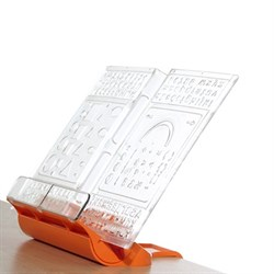 Подставка-трафарет для книг к партам Дэми ПДК-01 (Цвет товара:Оранжевый) - фото 21235