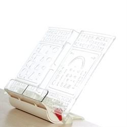 Подставка-трафарет для книг к партам Дэми ПДК-01 (Цвет товара:Бежевый) - фото 21267