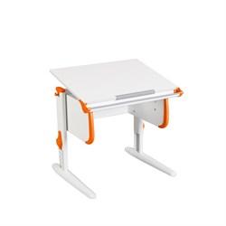 Парта трансформер ДЭМИ для дома WHITE СТАНДАРТ СУТ 24 (Цвет столешницы:Белый, Цвет боковин:Оранжевый, Цвет ножек стола:Белый) - фото 21499