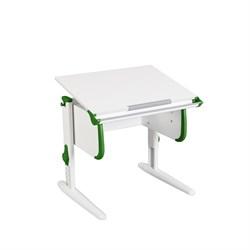Парта трансформер ДЭМИ для дома WHITE СТАНДАРТ СУТ 24 (Цвет столешницы:Белый, Цвет боковин:Зеленый, Цвет ножек стола:Белый) - фото 21511