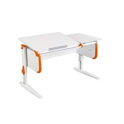 Парта для детей ДЭМИ СУТ-25 WHITE DOUBLE с раздельной столешницей (Цвет столешницы:Белый, Цвет боковин:Оранжевый, Цвет ножек стола:Белый) - фото 21644