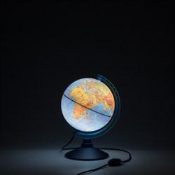 Глобус Земли физический Globen 210 мм с подсветкой Классик Евро (Цвет товара:Синий) - фото 22106