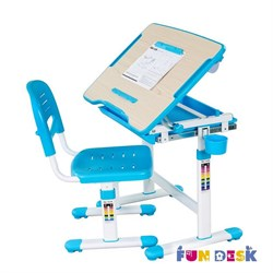 Растущая парта и стул FunDesk Bambino (Голубой) - фото 22147