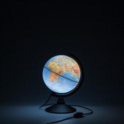 Глобус Земли физический Globen 210 мм с подсветкой Классик (Цвет товара:Черный) - фото 22173