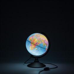 Глобус Земли политический с подсветкой Globen 210 мм Классик (Цвет товара:Черный) - фото 22174