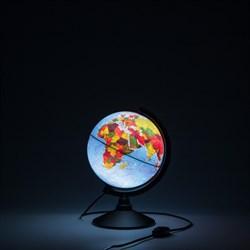 Глобус Земли физико-политический Globen 210 мм с подсветкой Классик (Цвет товара:Черный) - фото 22175