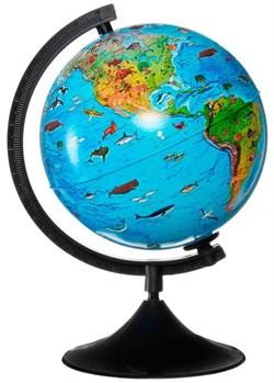 Глобус Земли зоогеографический с подсветкой Globen 210 мм Классик (Цвет товара:Черный) - фото 22187