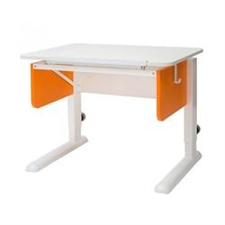 Парта трансформер для первоклассника Астек Юниор (Цвет столешницы:Белый, Цвет боковин:Оранжевый, Цвет ножек стола:Белый) - фото 22247