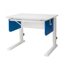 Парта трансформер для первоклассника Астек Юниор (Цвет столешницы:Белый, Цвет боковин:Синий, Цвет ножек стола:Белый) - фото 22252