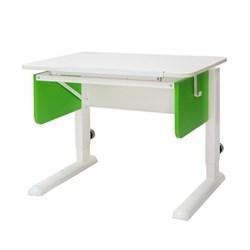 Парта трансформер для первоклассника Астек Юниор (Цвет столешницы:Белый, Цвет боковин:Зеленый, Цвет ножек стола:Белый) - фото 22261