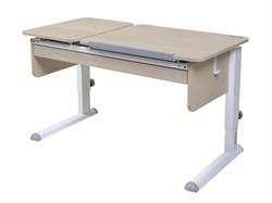 Парта для дома Астек ТВИН-2 с органайзером (Цвет столешницы:Береза, Цвет ножек стола:Белый) - фото 22393