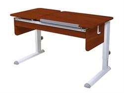 Парта для дома Астек ТВИН-2 с органайзером (Цвет столешницы:Яблоня, Цвет ножек стола:Белый) - фото 22614